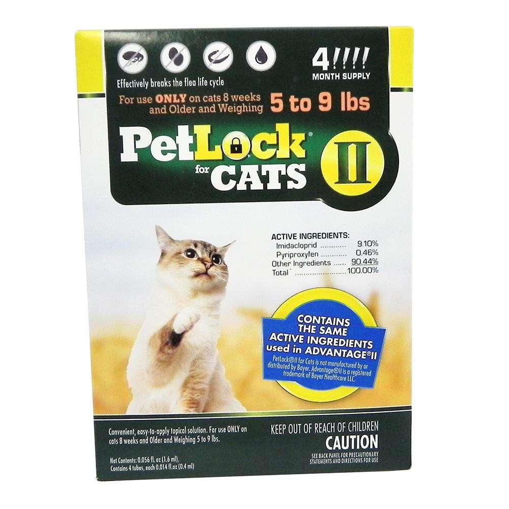 Petlock II Cat 5-9 pound 4-pack  Flea Control