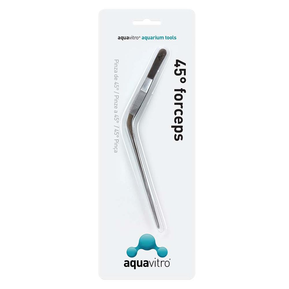 Aquavitro Stainless Steel Forceps 45 Degree Aquarium Tool
