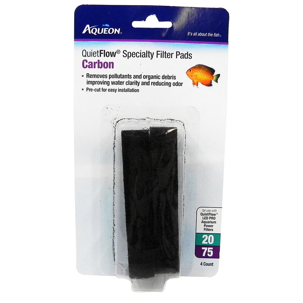 Aqueon Replacement Carbon Pad for QuietFlow 20-75 Filters