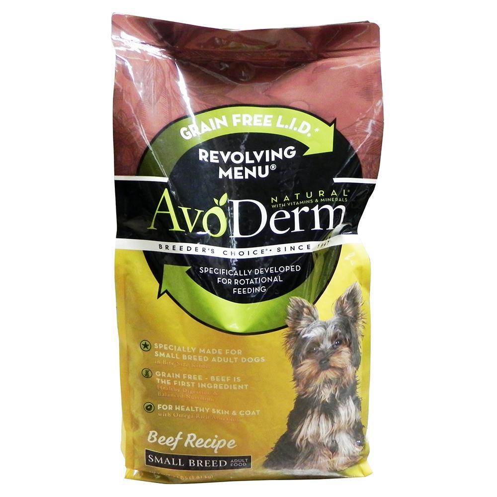 AvoDerm Grain Free Small Breed Beef Dog Food 4lb