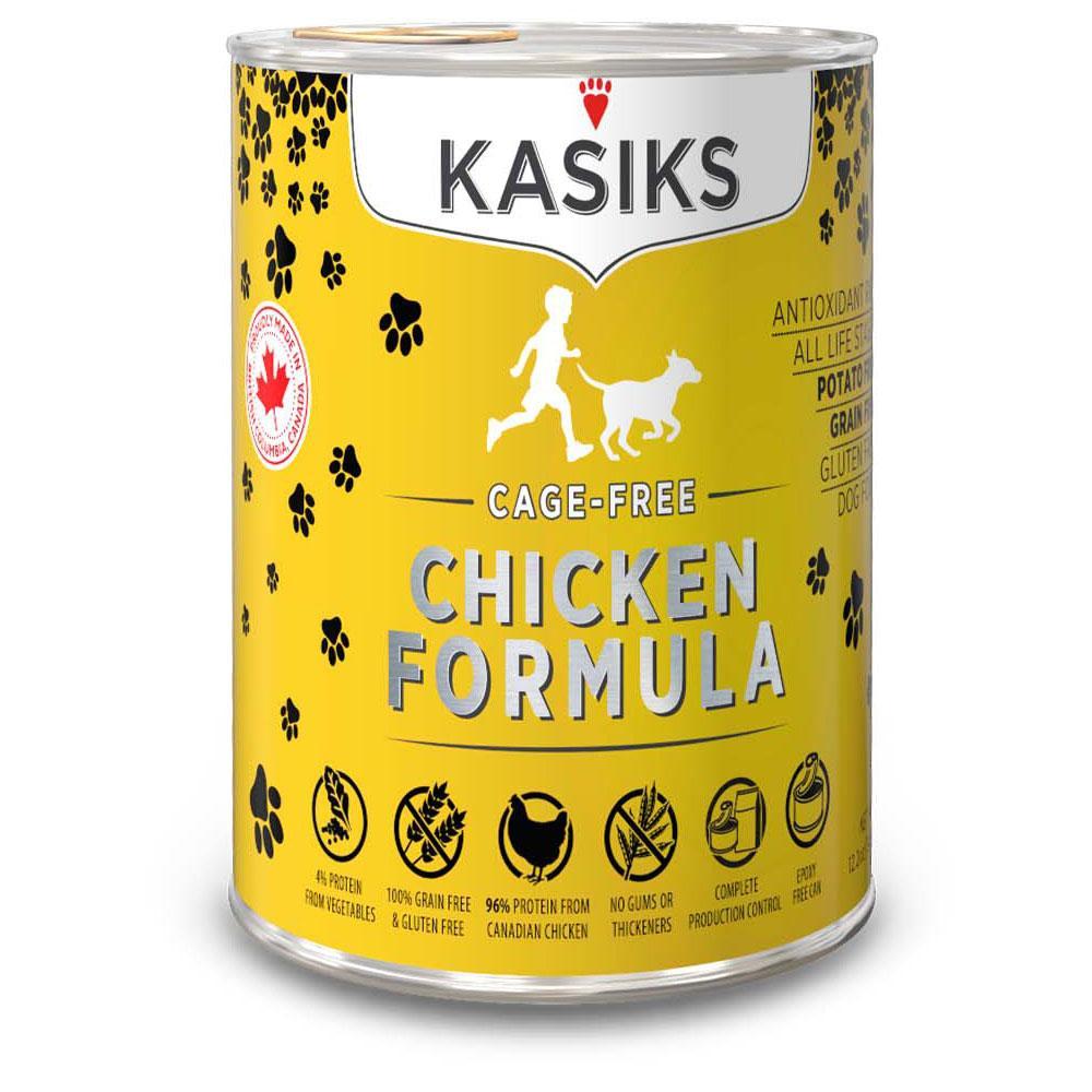 Kasiks Chicken Dog Food 12.2oz can each