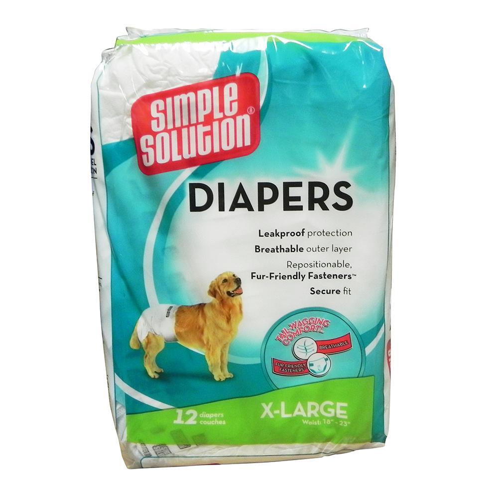 Diaper Garment Dog Diaper Disposable XLarge 12pack