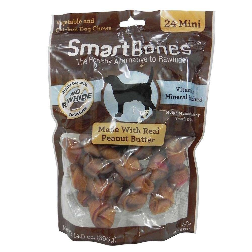 SmartBone Rawhide-Free Dog Treats Mini Bone 24 Pack