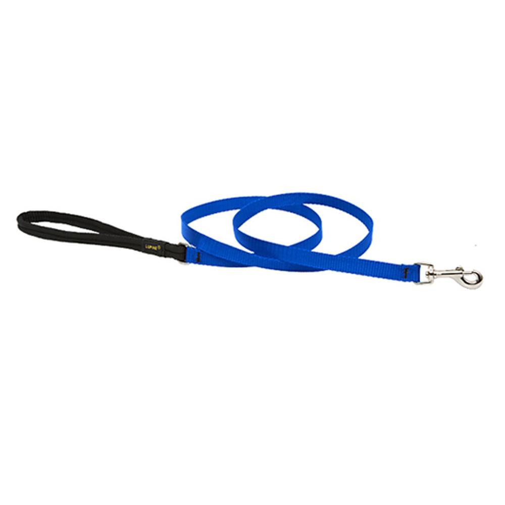Lupine Nylon Dog Leash 4-foot x 1/2-inch Blue