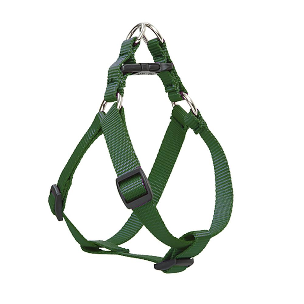 Nylon Dog Harness Step In Green 12-18 inches