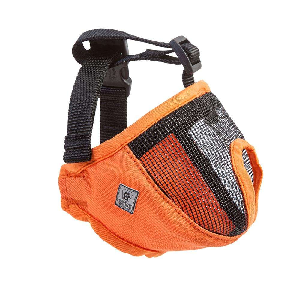 Dog Muzzle Short Snout Large Orange