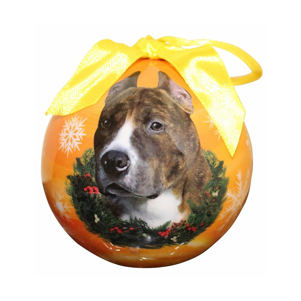 E&S Imports Shatterproof Animal Ornament Pit Bull Cropped