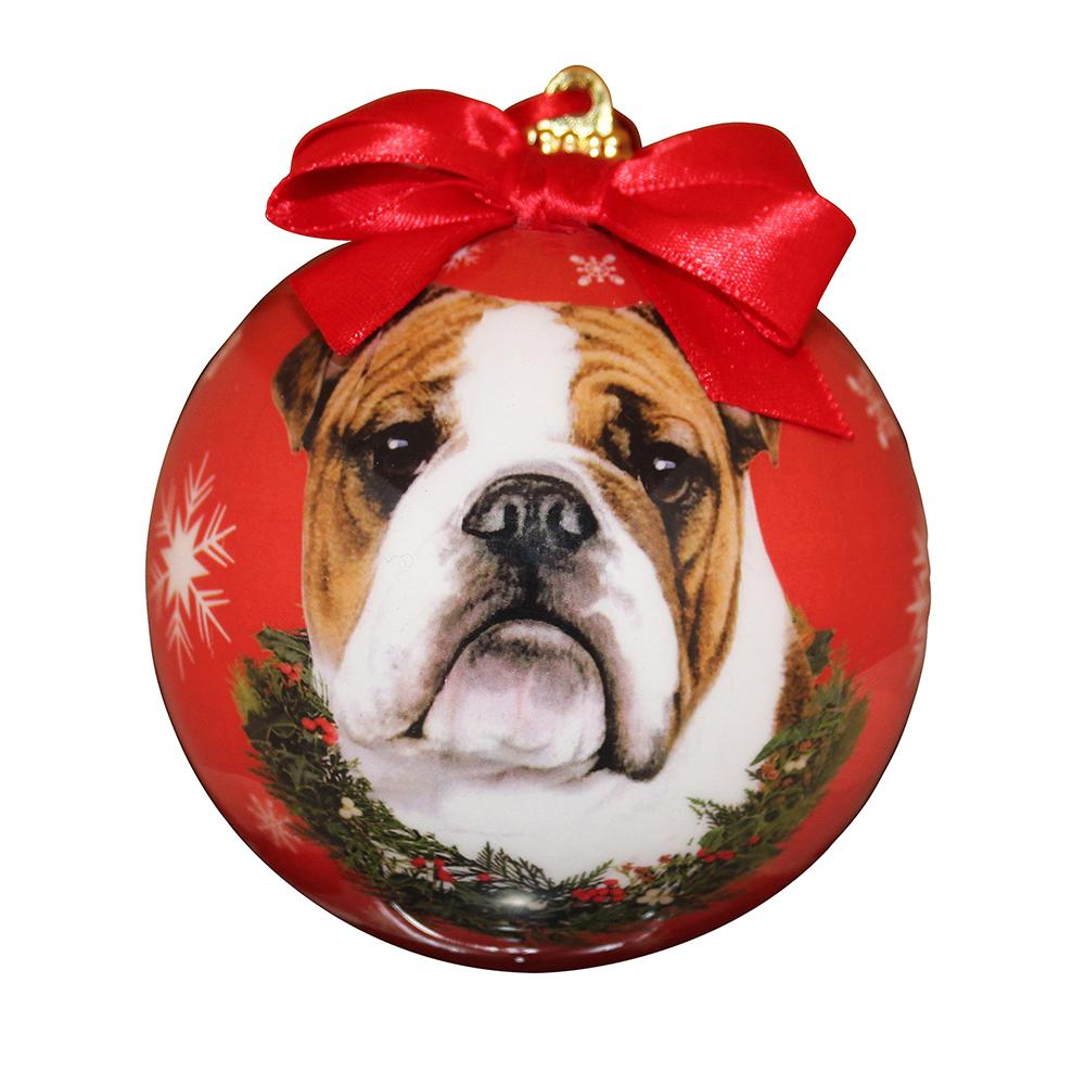 E&S Imports Shatterproof Animal Ornament English Bulldog