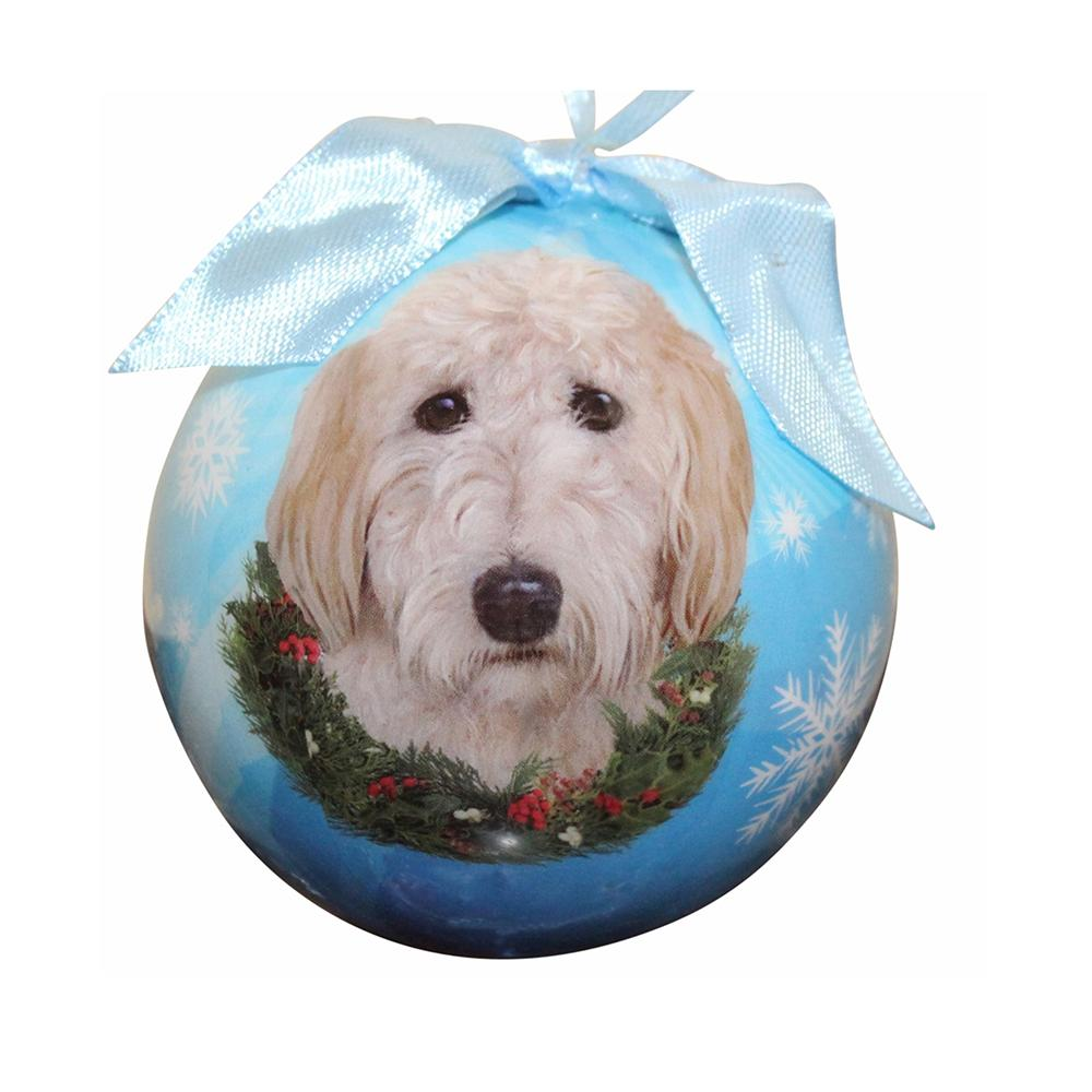 E&S Imports Shatterproof Animal Ornament Goldendoodle