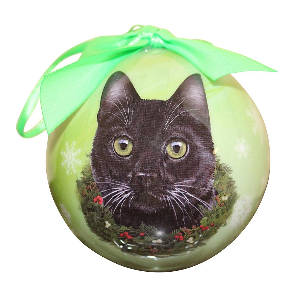E&S Imports Shatterproof Animal Ornament Black Cat