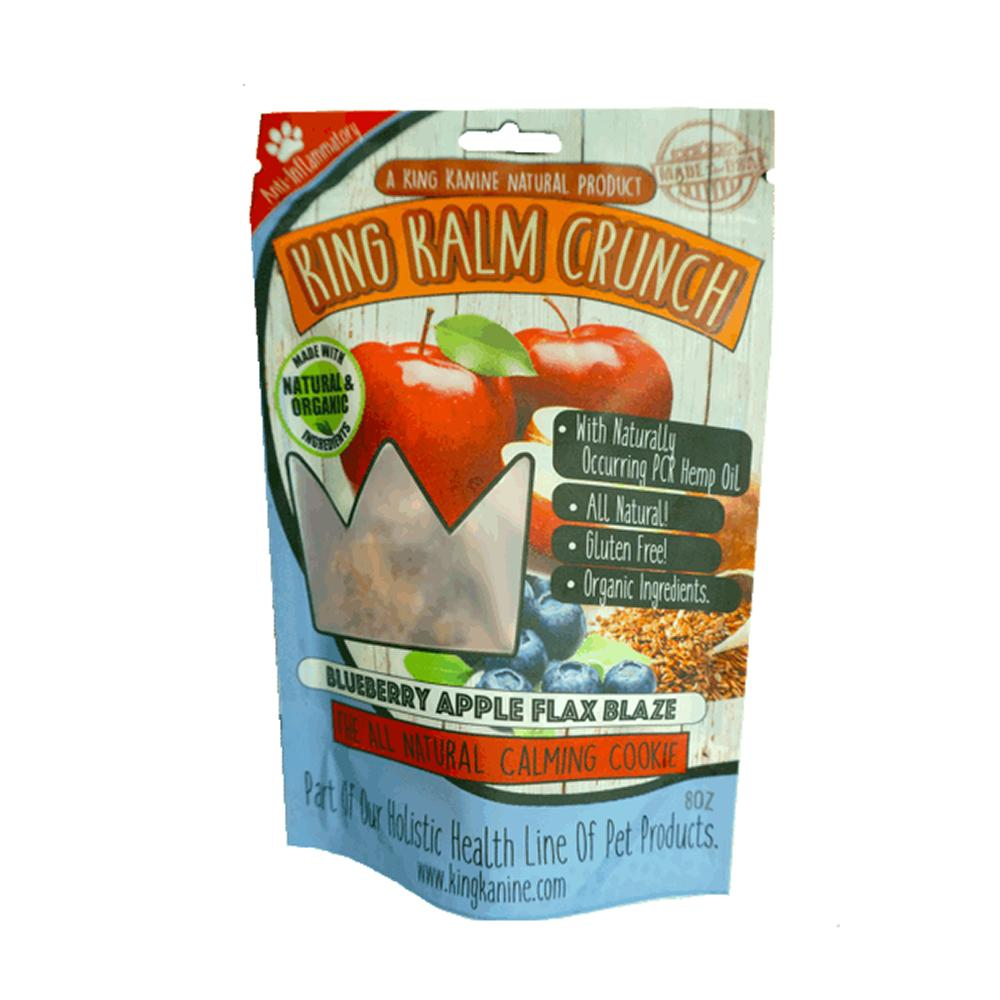 King Kalm Crunch Blueberry Dog CBD Treats 8oz.