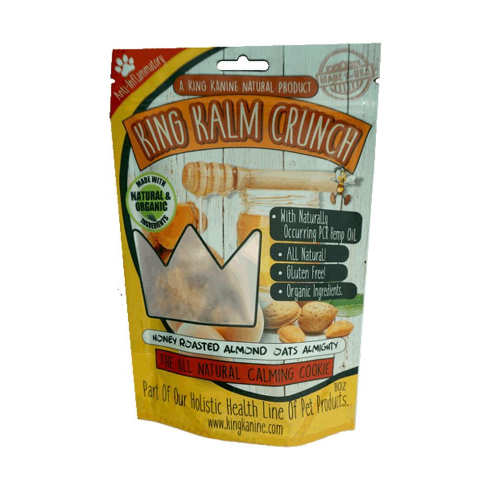 King Kalm Crunch Honey Oat Dog CBD Treats 8oz.
