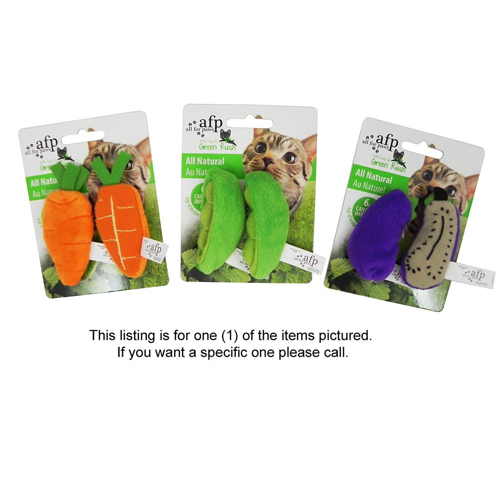 AFP Green Rush Catnip Cat Toy - Color will vary!
