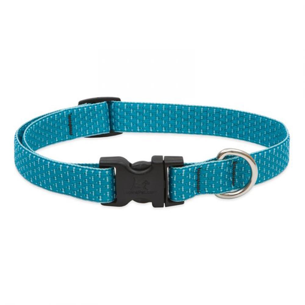 Lupine Nylon Dog Collar Adjustable Eco Tropical Sea 9-14