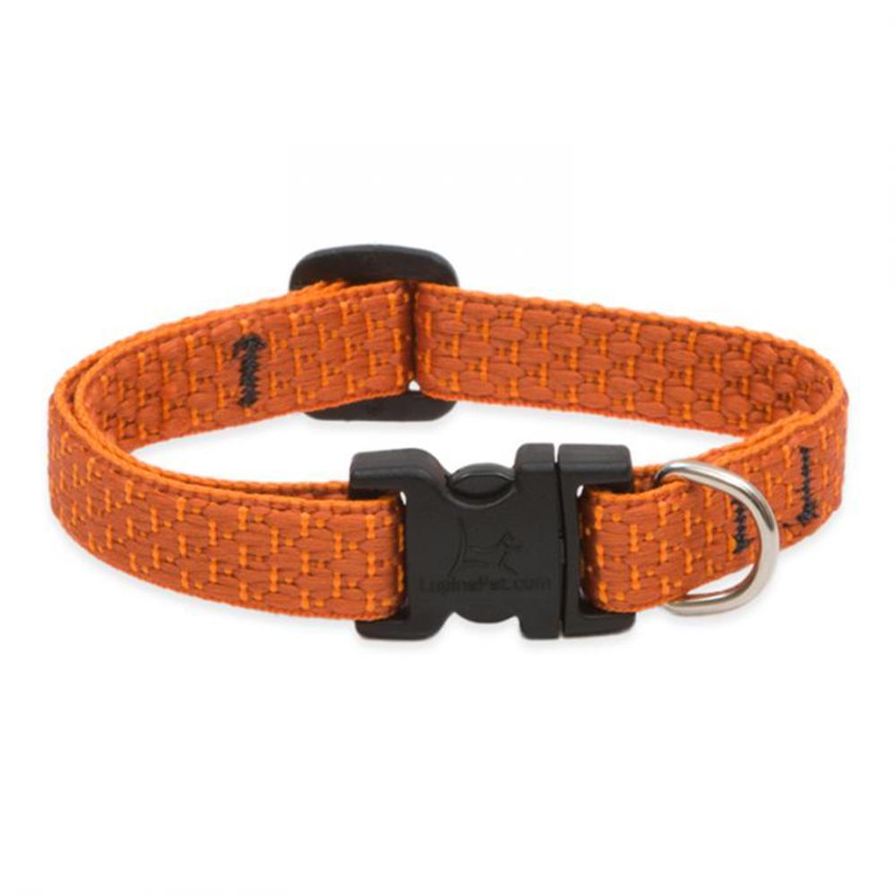 Lupine Nylon Dog Collar Adjustable Eco Pumpkin 10-16