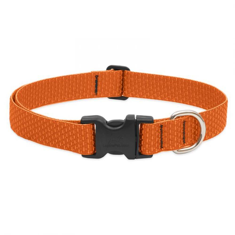 Lupine Nylon Dog Collar Adjustable Eco Pumpkin 16-28