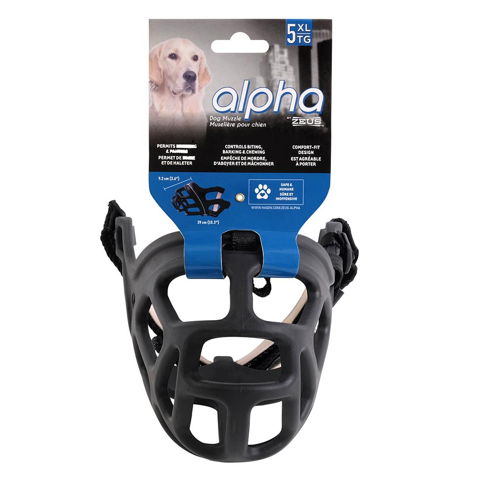Alpha by Zeus Black Dog Muzzle Size 5 XLarge