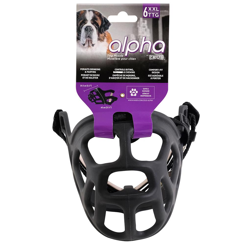 Alpha by Zeus Black Dog Muzzle Size 6 XXLarge