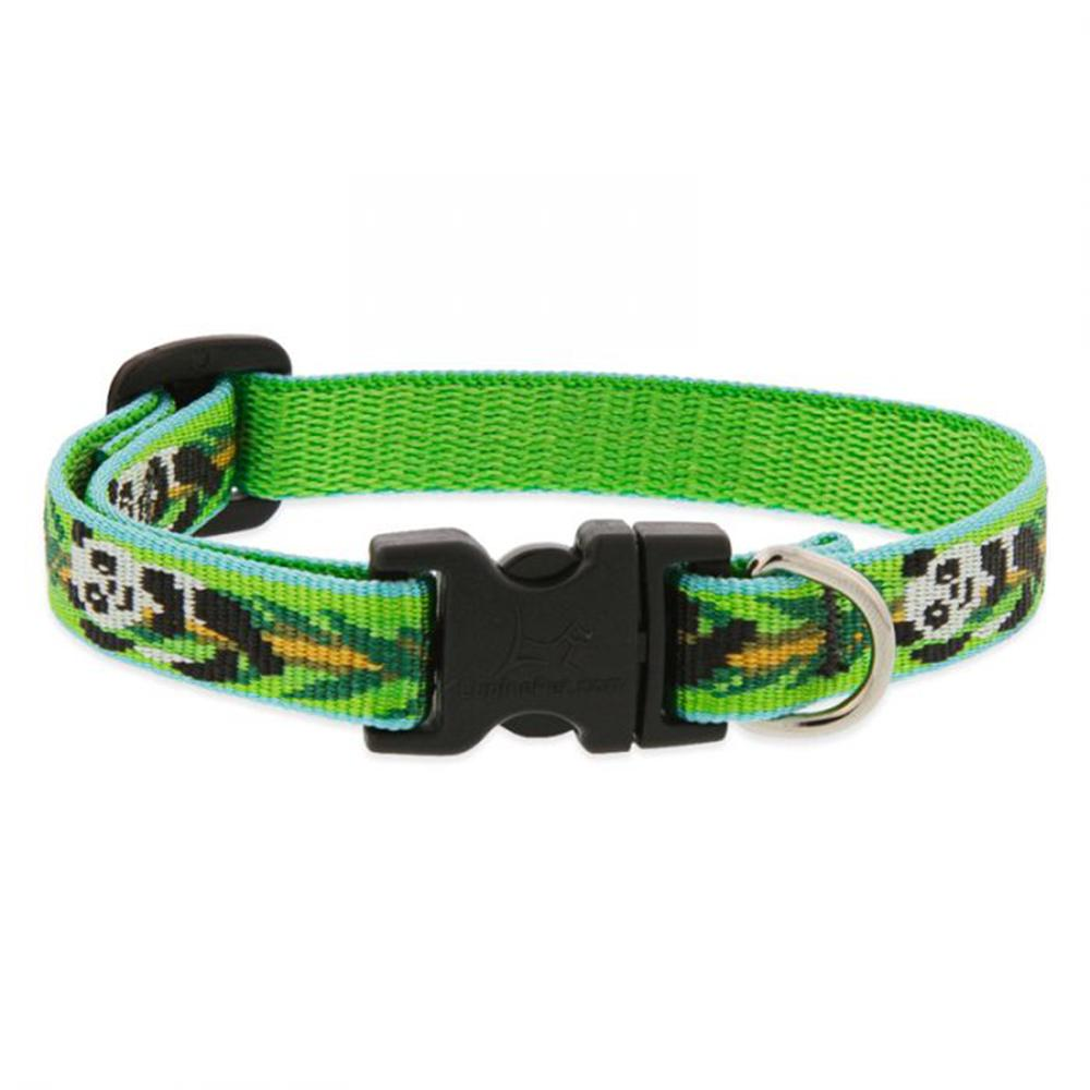Dog Collar Adjustable Nylon Panda Land 8-12 1/2 inch wide