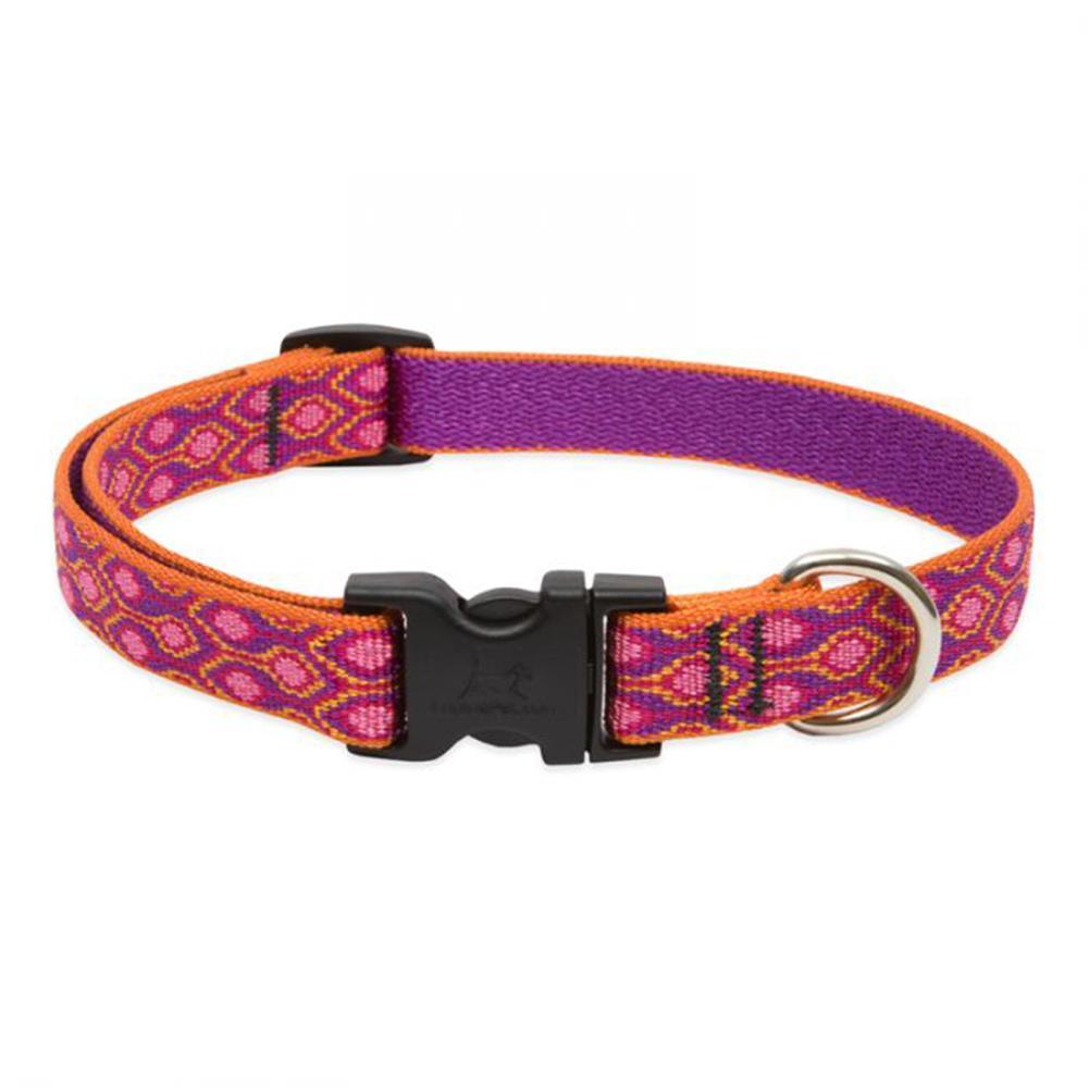 Dog Collar Adjustable Nylon Alpen Glow 9-14 3/4 inch wide