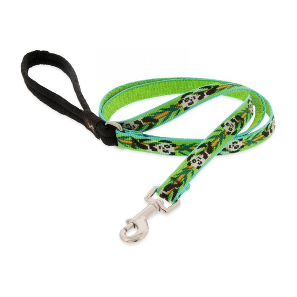 Lupine Nylon Dog Leash 4-foot x 1/2-inch Panda Land
