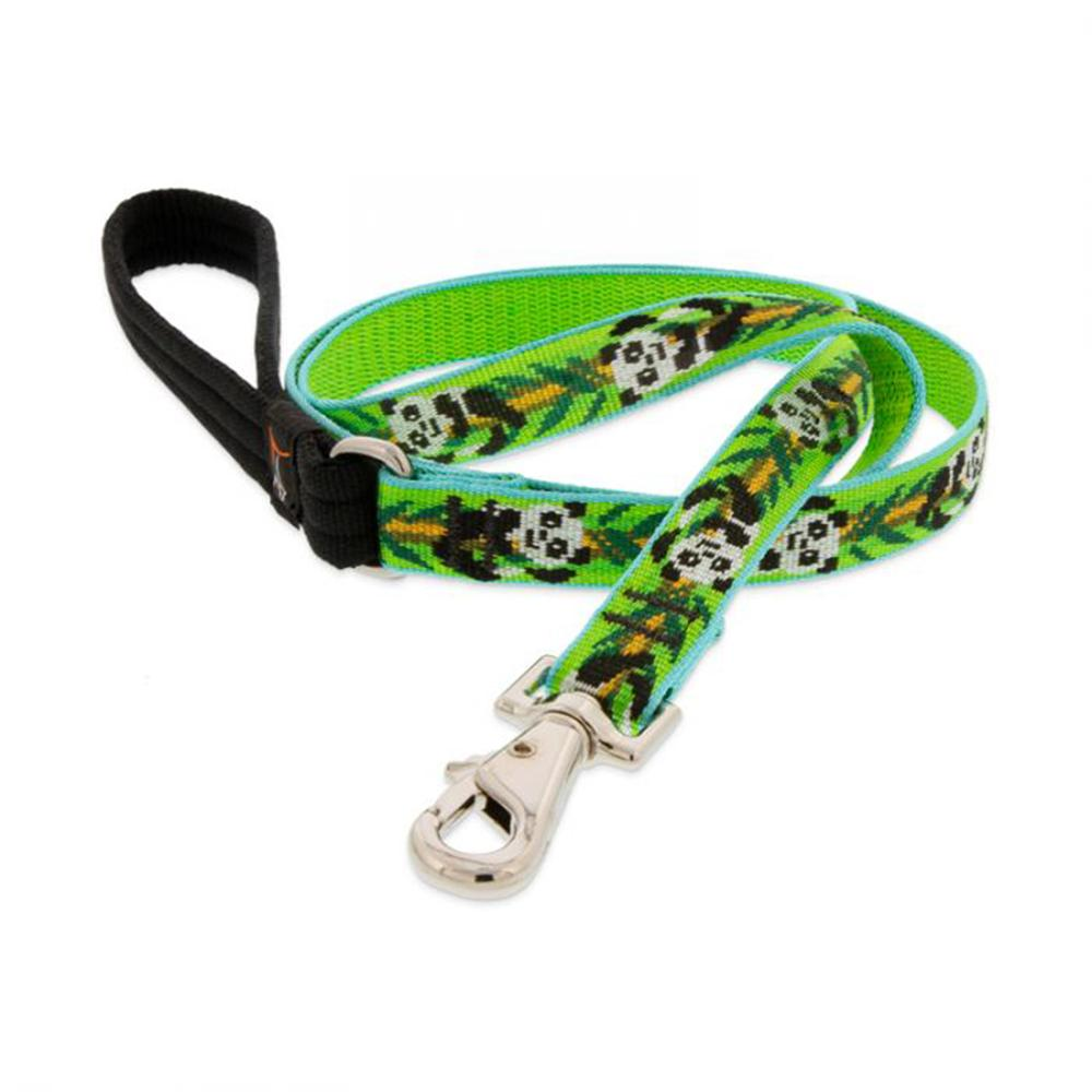 Lupine Dog Leash 4-foot x 3/4-inch Panda Land