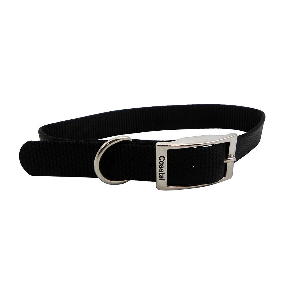 Nylon Dog Collar 1 inch Black 22-inch