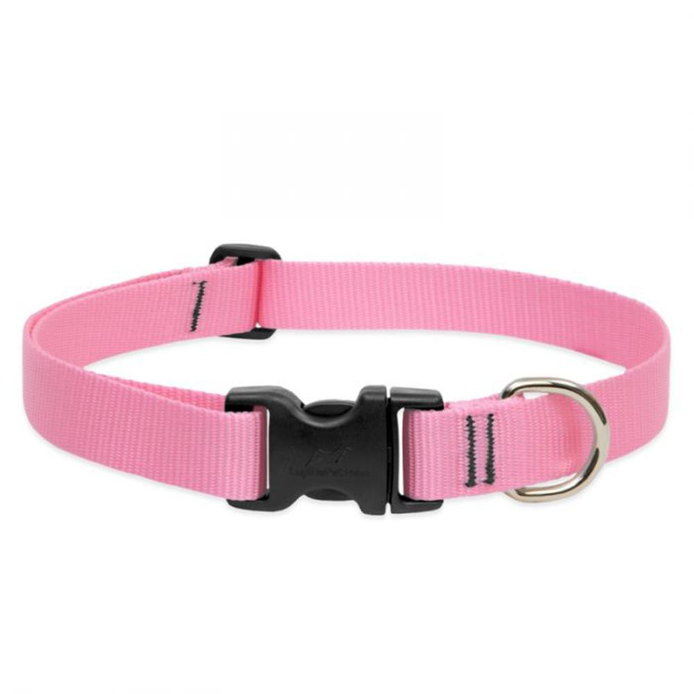 Lupine Nylon Dog Collar Adjustable Pink 16-28 inch