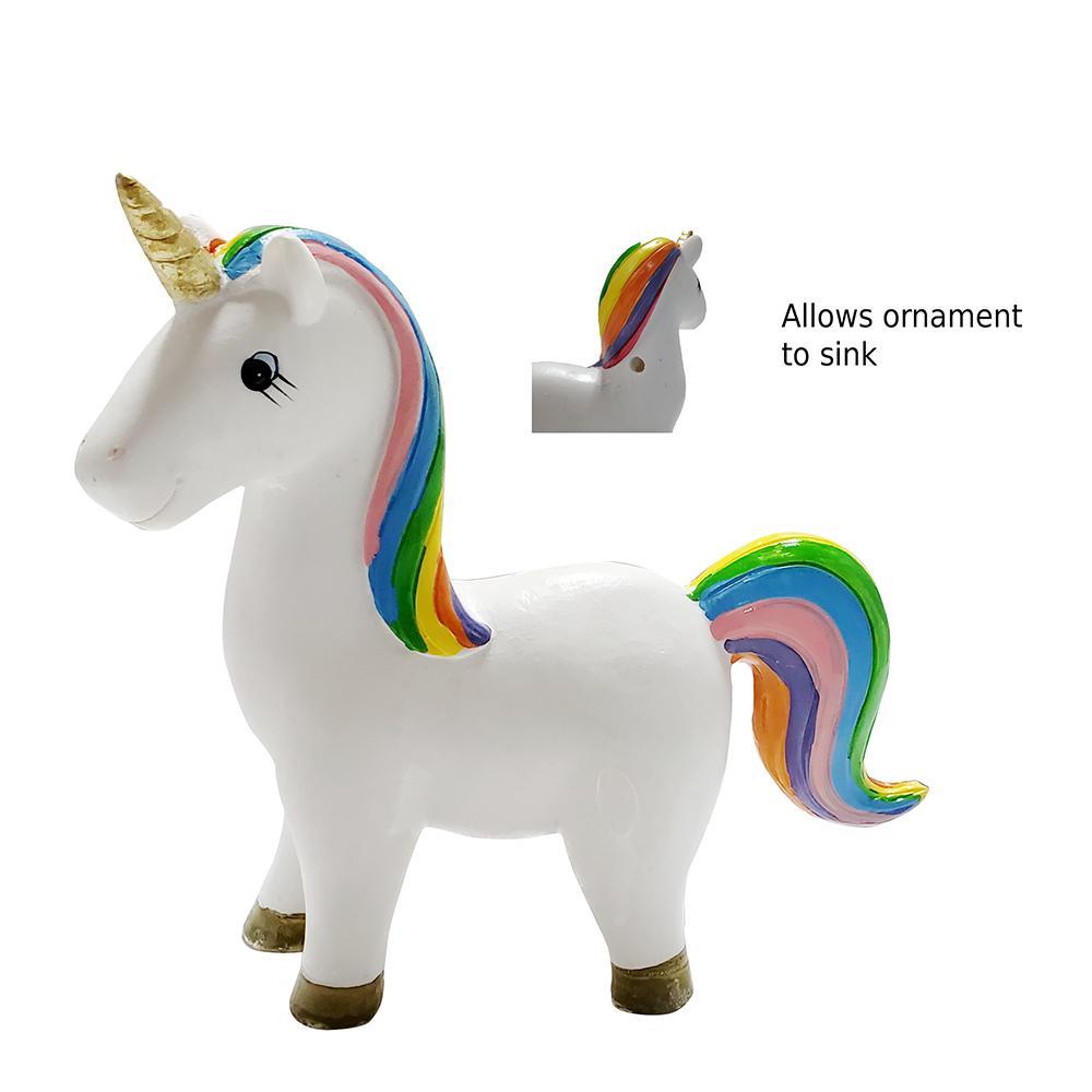 Standing Rainbow Unicorn Aquarium Ornament