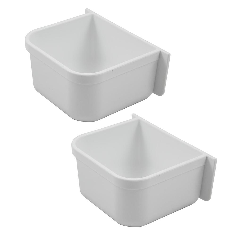 Parrot Cage Replacement Food/Water Plastic Cup 2 Pack