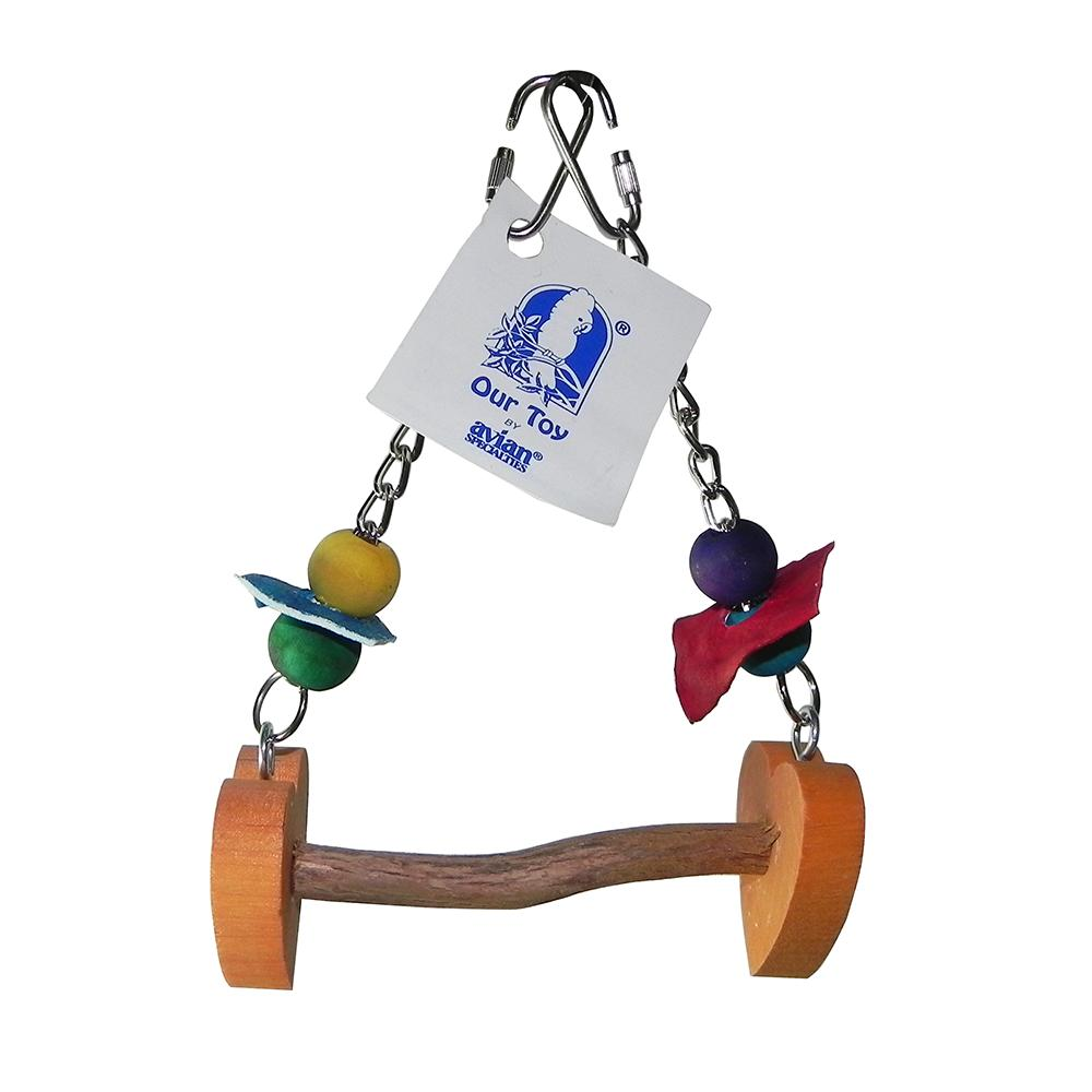 Love Perch Swing Made in USA for XSmall Birds