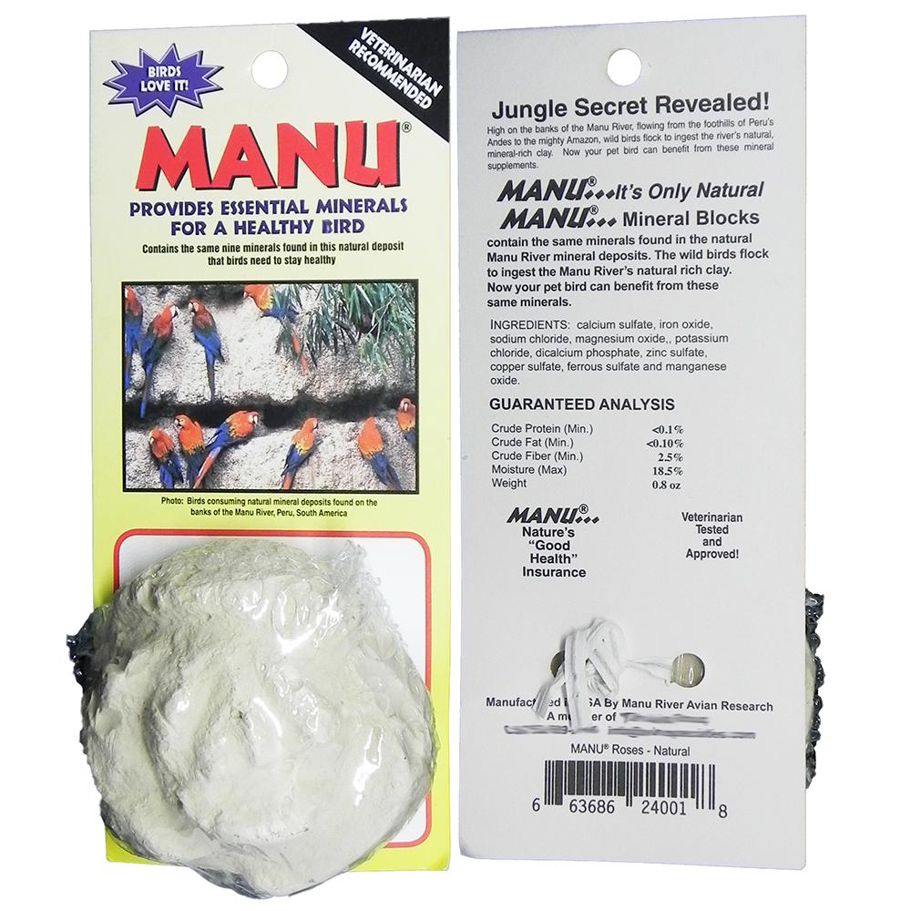 Manu Natural Mineral Rose for all Pet Birds 1oz.