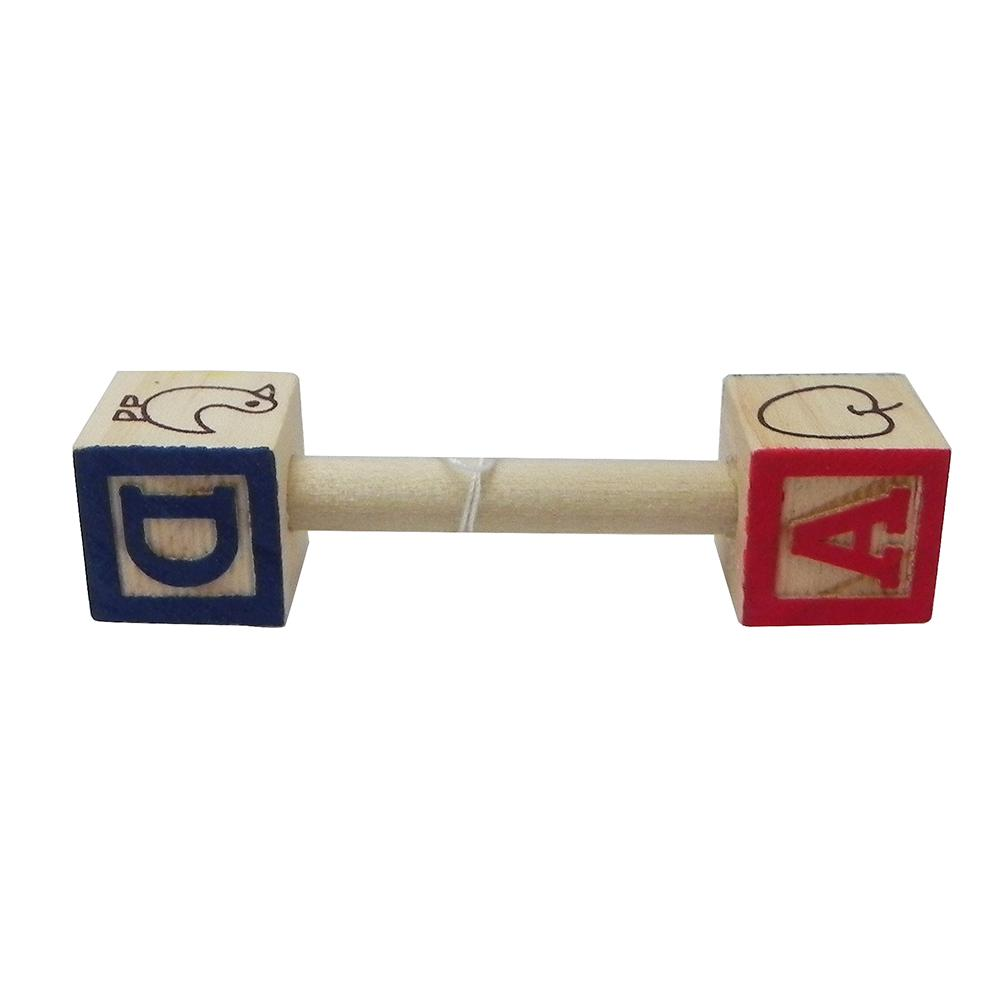 Baby Block Dumbbell Small Made in USA Bird Toy