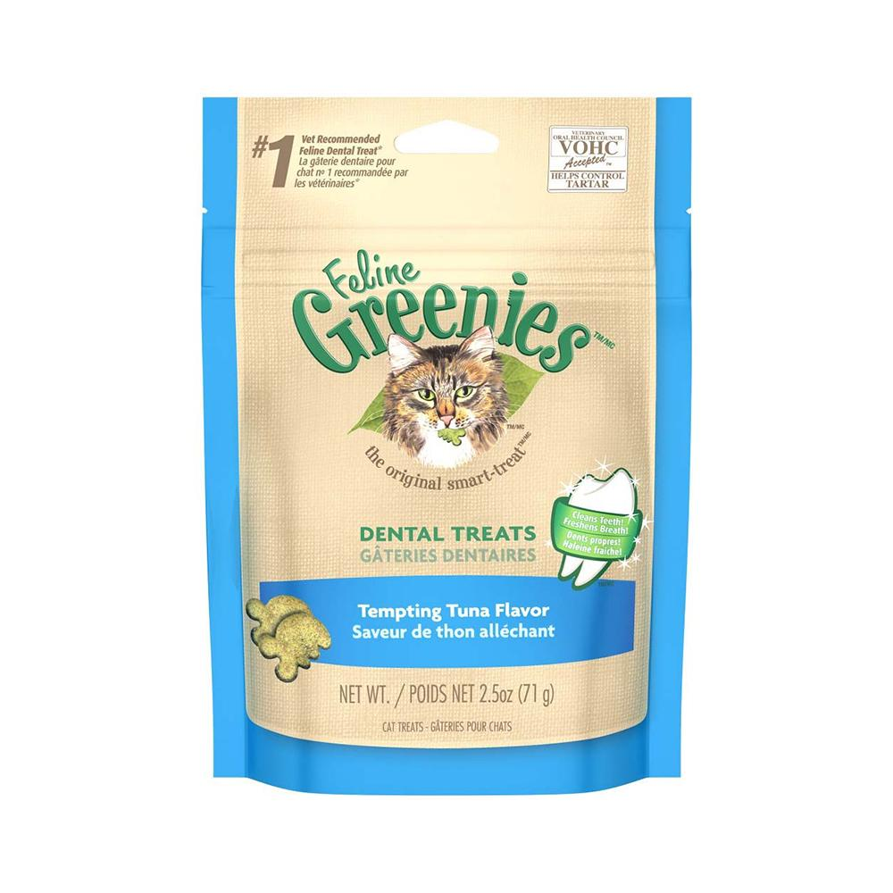 Feline Greenies Tempting Tuna Dental Treats For Cats 2.5 oz