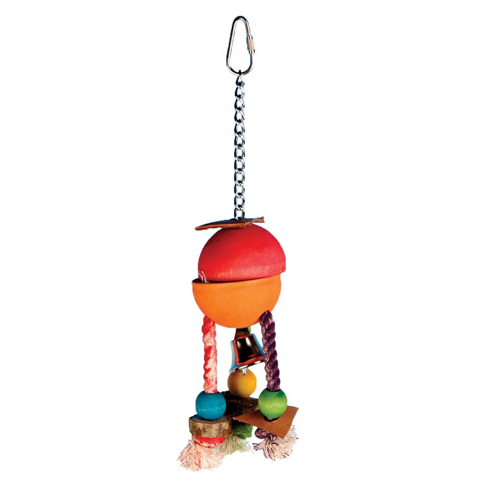Carribean Hide-A-Treat Small Foraging Bird Toy