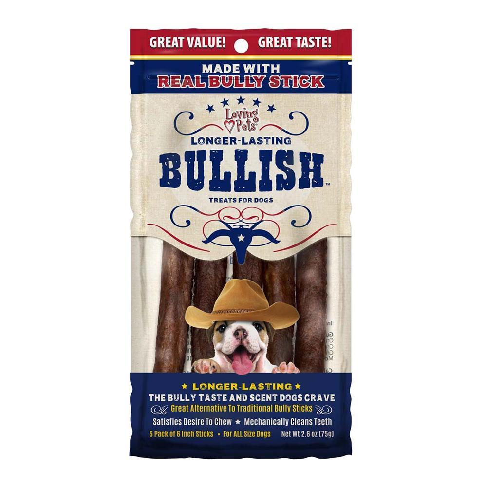 Loving Pets Bullish Sticks 5ct Treats For Dogs