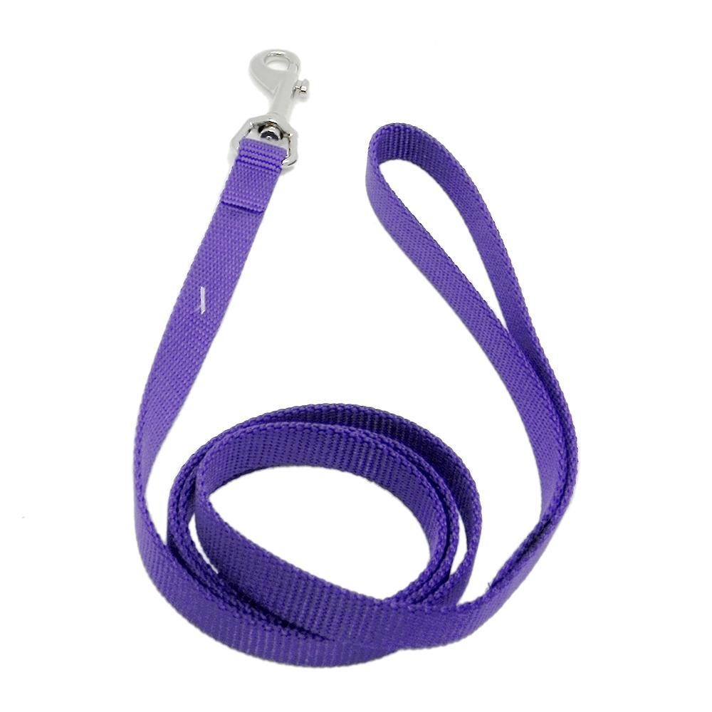 Nylon Dog Leash 5/8-inch x 6 foot Purple