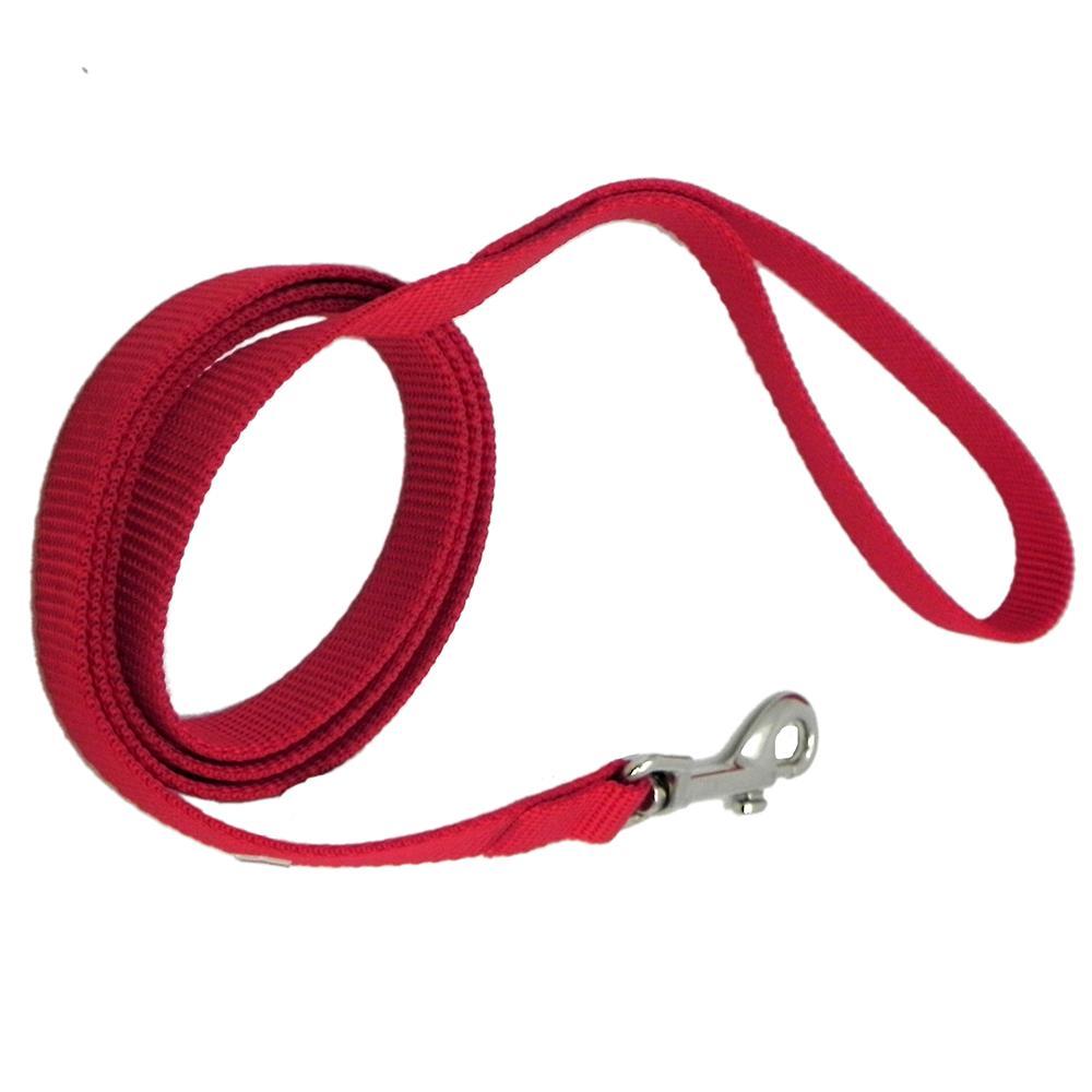 Nylon Dog Leash 5/8-inch x 6 foot Red
