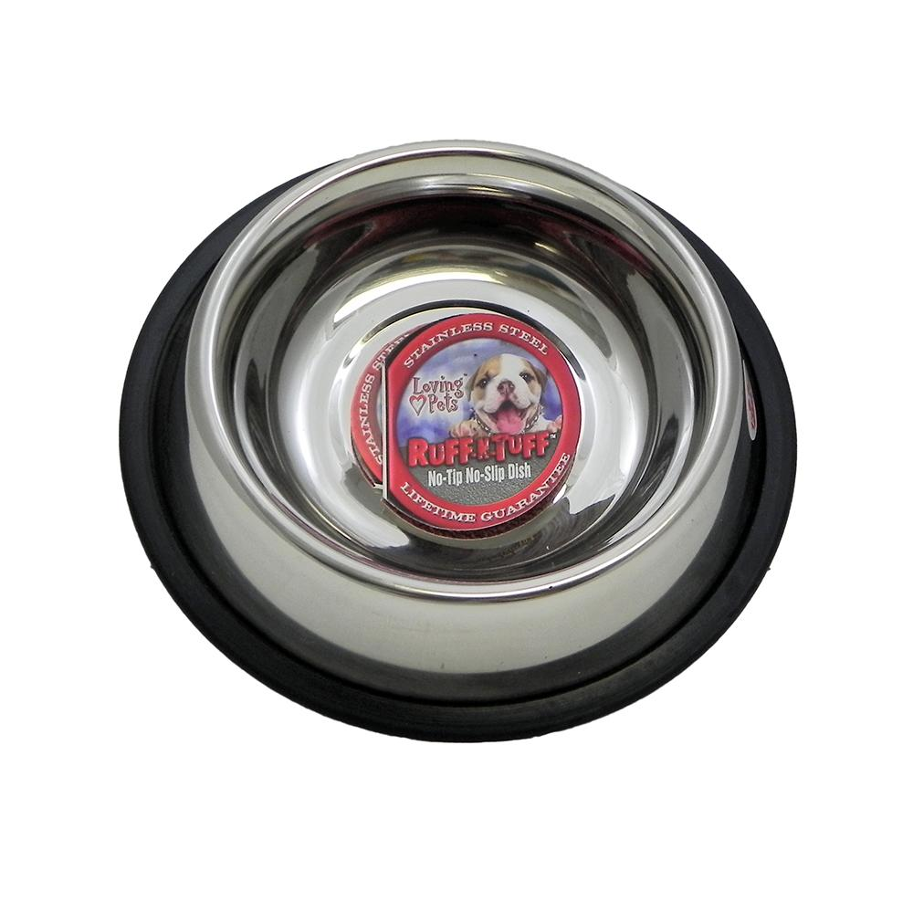Steel Dog Bowl Non Skid 1 Pint (16 ounce)