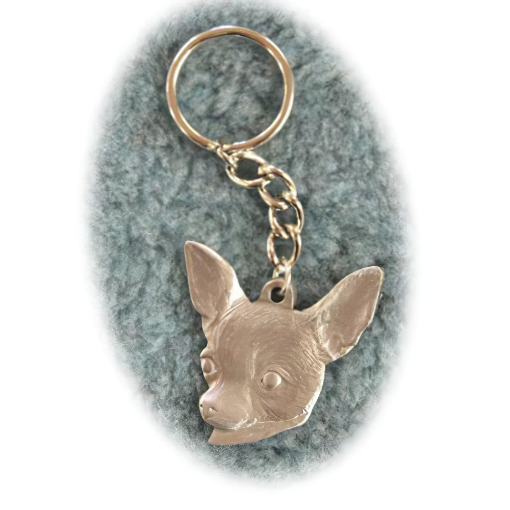 Pewter Key Chain I Love My Chihuahua
