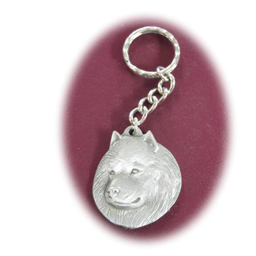 Pewter Key Chain I Love My Samoyed