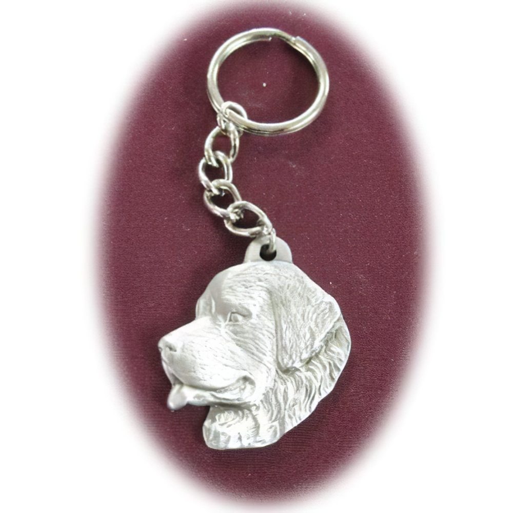 Pewter Key Chain I Love My Newfoundland