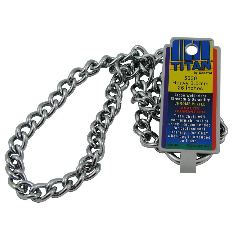 Coastal Titan Chrome Steel Dog Choke Chain Heavy 26 inch