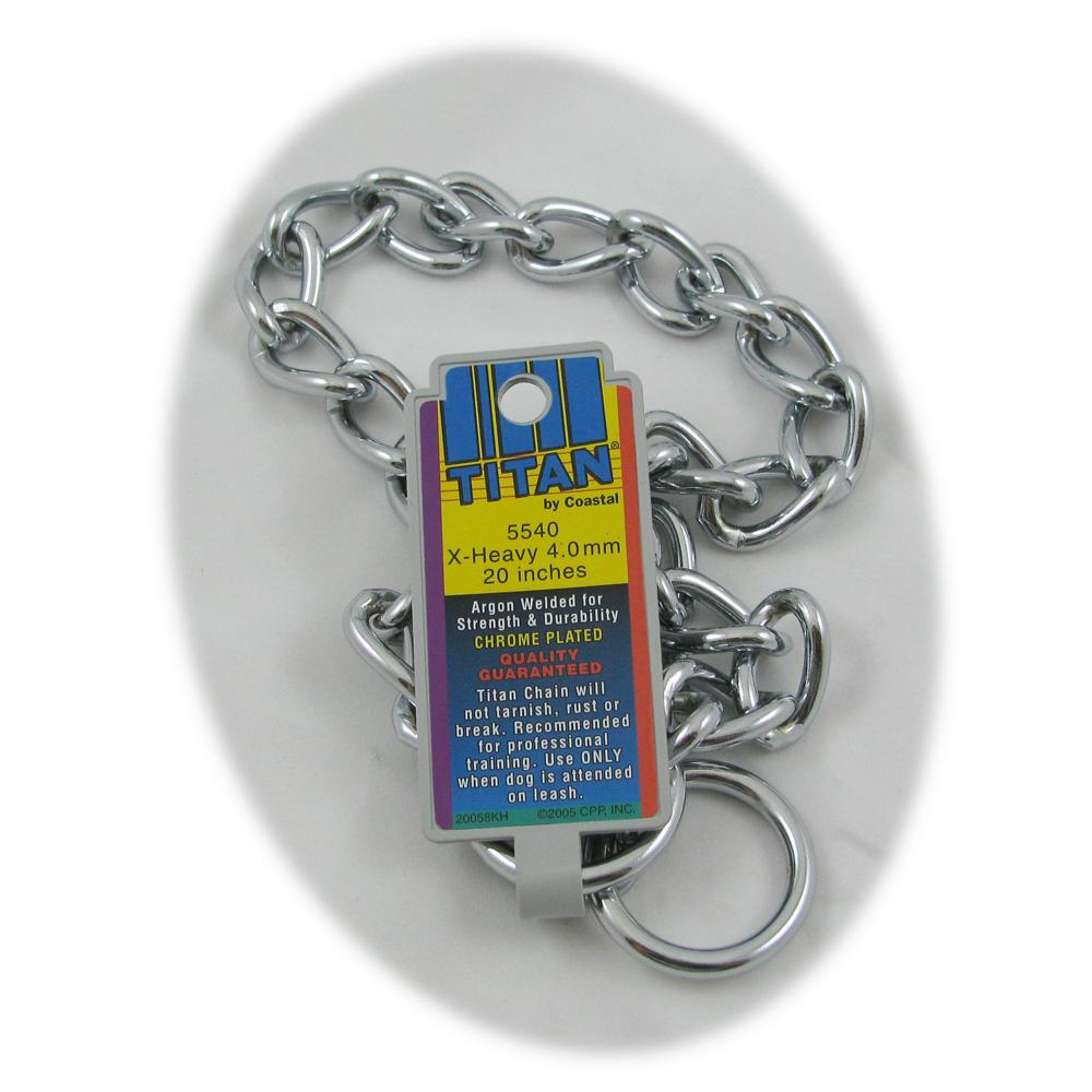 Coastal Titan Chrome Steel Dog Choke Chain XHeavy 20 inch