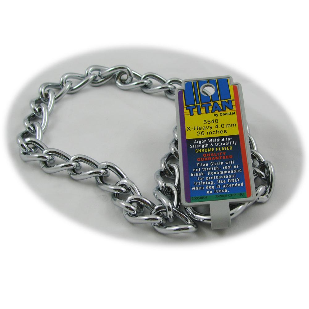 Coastal Titan Chrome Steel Dog Choke Chain XHeavy 26 inch