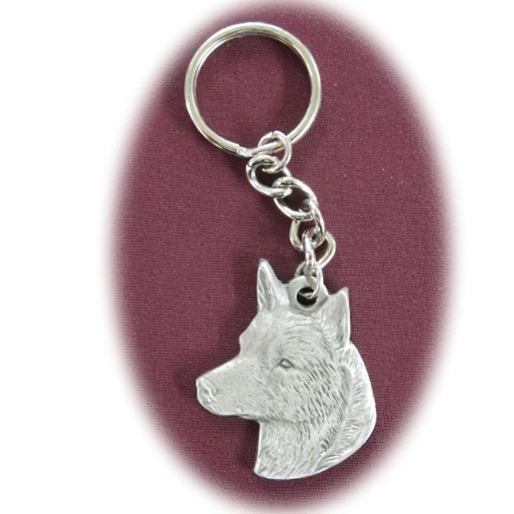 Pewter Key Chain I Love My Australian Cattledog