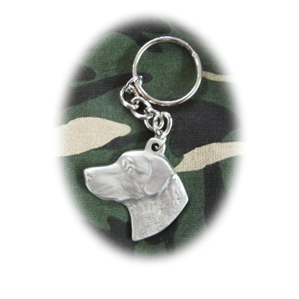 Pewter Key Chain I Love My Chesapeake Bay Retriever