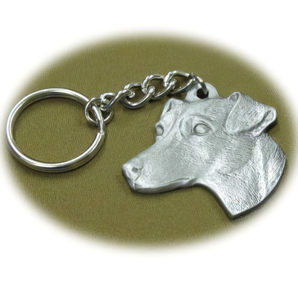 Pewter Key Chain I Love My Jack Russell Terrier