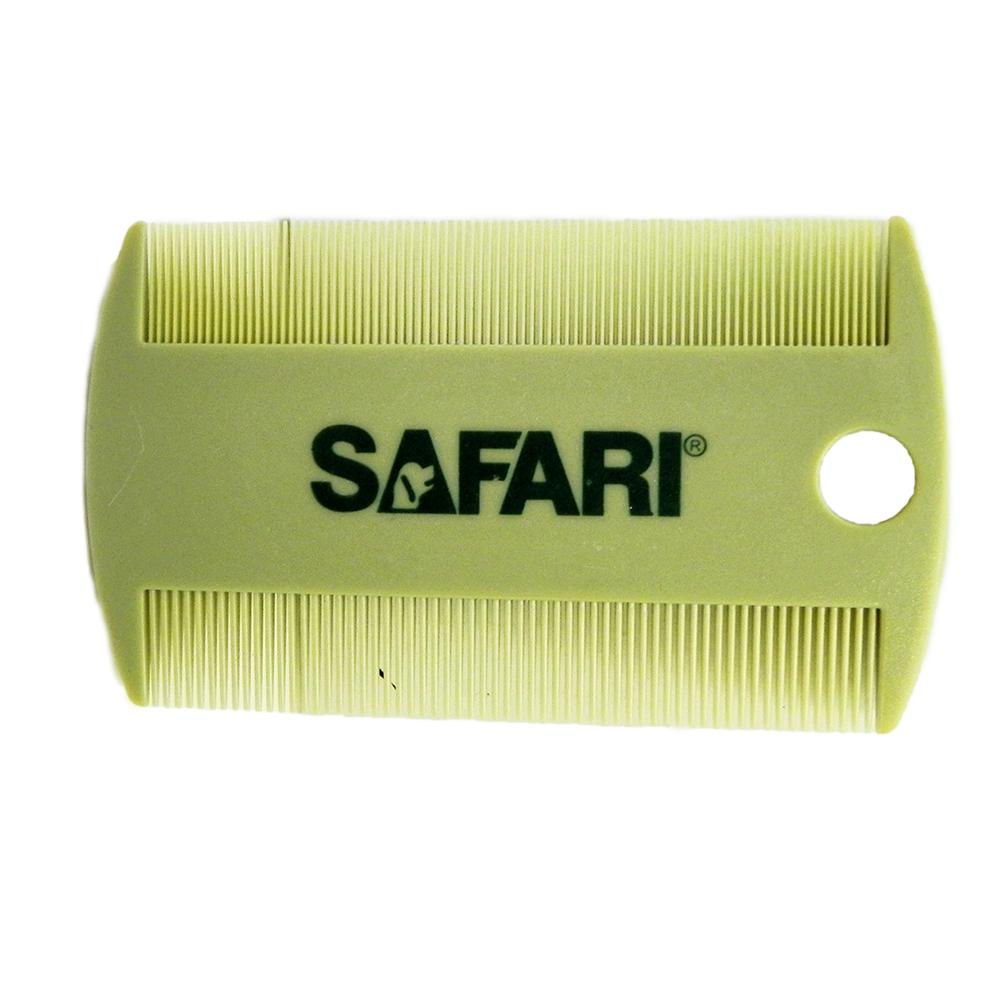 Double-Sided Safari Plastic Flea Comb
