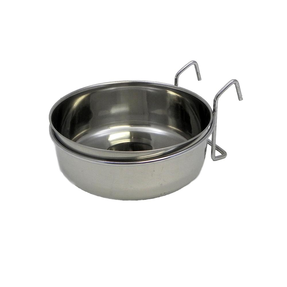 Stainless Bird Dish w/wire 30 ounce